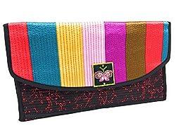 Wallet Fabcloud Rainbow Floral Black Bright Wallet By Wisegloves Handbag Clutch Organiser Card Coin Checkbook Phone