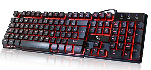 Rii RK100 3 Colors LED Backlit Mechanical Feeling …
