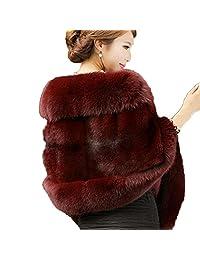 Aurora Bridal Fashion Luxury Faux Fur Winter Shawl Wrap Women Sarves