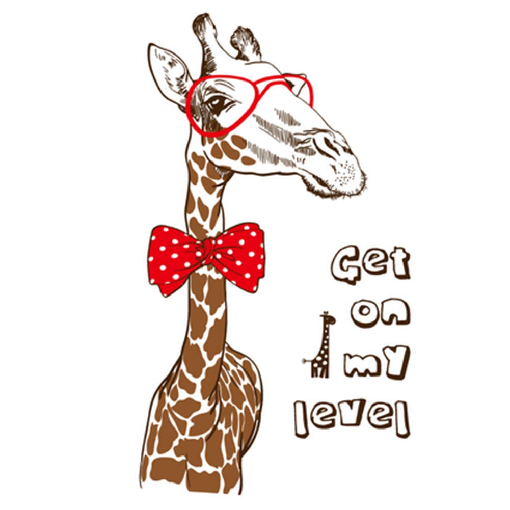 60 * 90 cm Stickers muraux É tiquette girafe, Salon Salon Chambre amovible Stickers salle de bains ou dé coration de la maison Salon Salon Chambre amovible Stickers salle de bains ou décoration de la maison TOPFAY