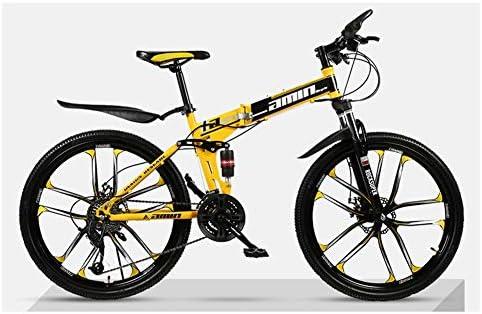 KXDLR MTB 21 Velocidad Bicicleta Plegable De 26 Pulgadas Y 10 ...