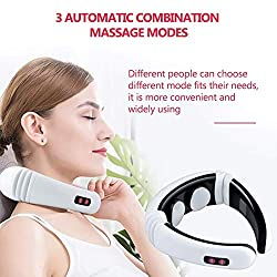Electric Pulse Back and Neck Massager Far Infrared Heating Pain Relief Health Care Relaxation Tool Intelligent Cervical Massager