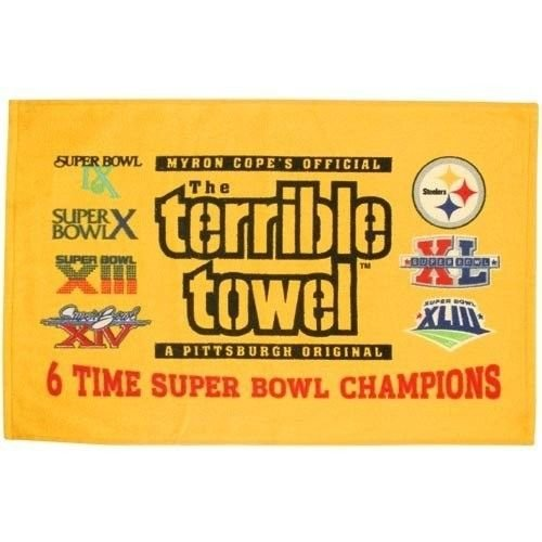 Pittsburgh Steelers Terrible Towel 6X Super Bowl Champions - New with Tags