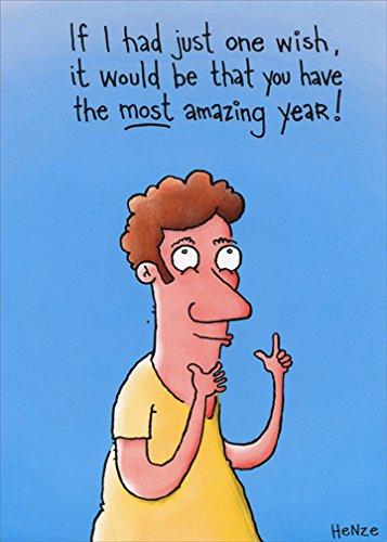 - Just One Wish Funny Mel Henze Birthday Card