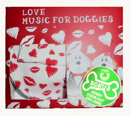 Pet Village Love Doggy Romantic Music Compact Disc Gift Set Complete with Adjustable Hat/Visor for all Doggys (Visor Synthetic)