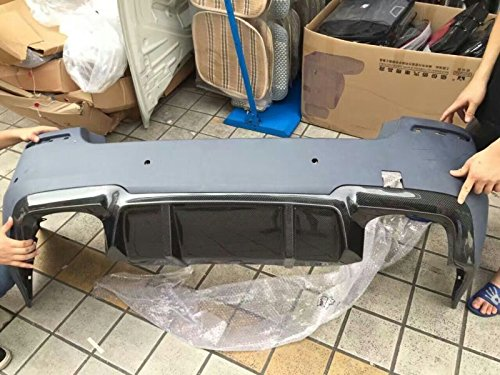 F10 M5 Diffuser for 2012 3D Style Carbon Fiber Rear Diffuser 2 FINS