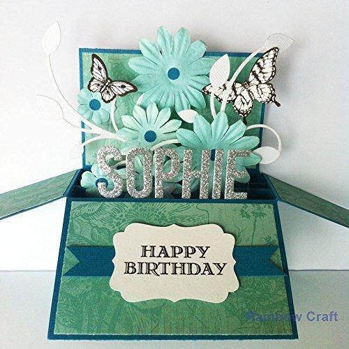 amazon com name age personalised birthday card girlfriend