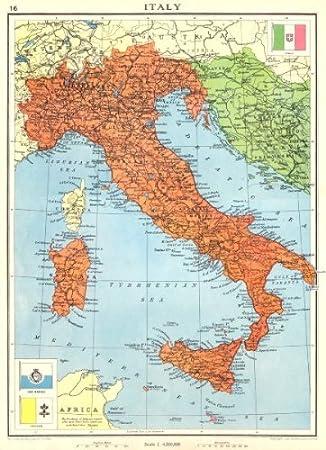 italien istrien karte Italien. Kurz vor dem 2. Weltkrieg Inklusive Istrien Zara/Zadar