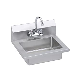 Elkay Professional Grade Wall Mounted Commercial Hand Sink With Faucet, ...