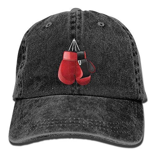 Boxing Gloves 2 Denim Hat Adjustable Womens Great Baseball Hats Black ()