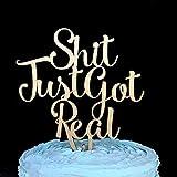 Shit Just Got Real Cake Topper, Wedding Cake Topper, Cake Topper, Cake Topper Wedding, Shit Just Got Real, Funny Wedding Cake Topper