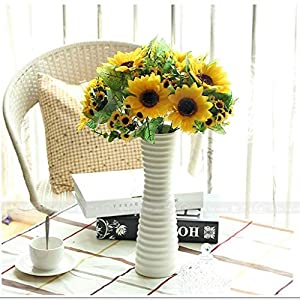 Gotian Fake Sunflowers Silk Flowers Vibrantly Colored Artificial Flowers Artificial Plant Table Centerpieces Arrangements Home Indoor for Centerpieces Home Wedding Decoration 52