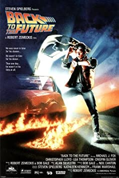 Professionally Framed Back to the Future Movie Michael Looking at Watch Poster Print – 24×36 with RichAndFramous Black Wood Frame by Generic