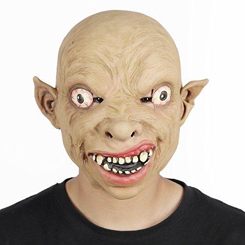 Gollum Full Costume (Gollum Mask Full Over The Head Latex Sméagol Hobbit Rings Fancy Halloween Masks)