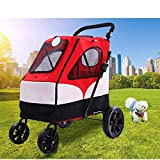 Large Pet Stroller Large Dog Trolley Folding Large Space Bearing 55KG for Outbound Use