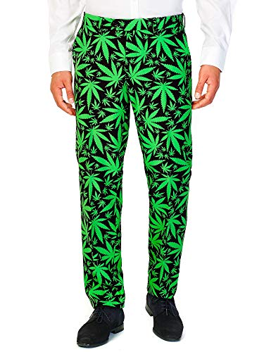 OppoSuits Men's Cannaboss Party Costume Suit, Black/Green, 48 by OppoSuits (Image #5)