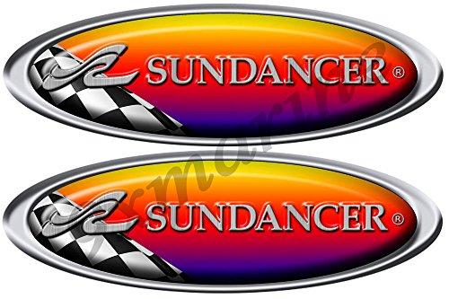 Sea Ray Sundancer Racing Decal/Sticker. Remastered