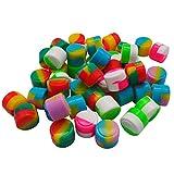 YHSWE 50Pcs 2ml Non-stick Silicone Oil Kitchen Concentrate Container Mini Round Multi Use Storage Jar Assorted Random Color
