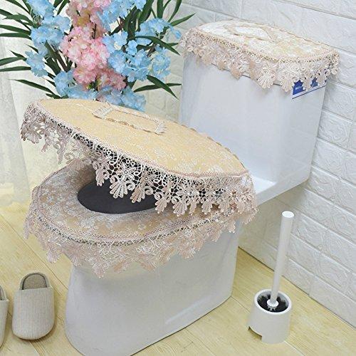 Cojin de tela de encaje de encaje de aseo, tres piezas, WC ...