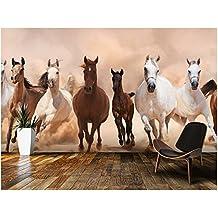ZLJTYN 270cmX180cm Custom papel DE parede infantil. Herd of Horses Panoramic used in the sitting room the bedroom TV setting wall vinyl wallpaper