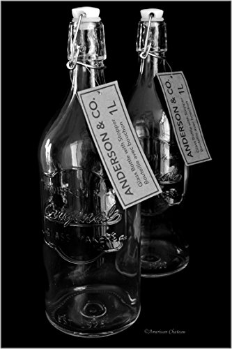 Set 2 Large 34oz Glass Anderson & Co. Vintage Fridge Water B