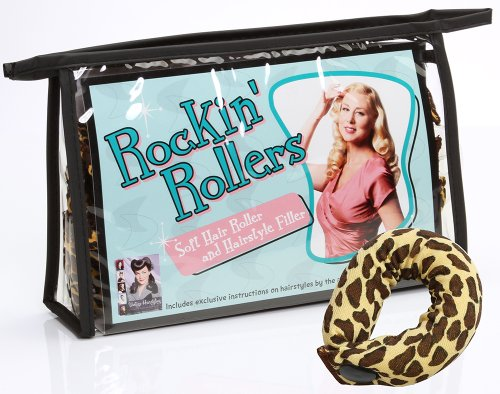 - Rockin' Rollers Soft Leopard Print Hair Rollers and Hair Filler