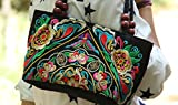 Embroidered Ethnic Wallets Canvas Should Bag Handbags for Women