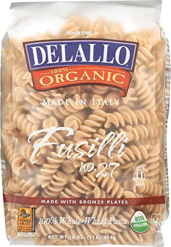DeLallo (NOT A CASE) Organic Whole Wheat Fusilli Pasta No.27