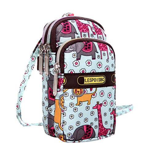 Crossbody Sport Bag Wrist Bags Purse Zipper Fashion Wrist D Mini Bag Printing Women's Shoulder vPHRzqXp