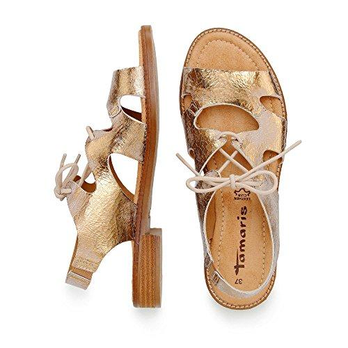 1 Gold Women's Sonstige 958 Sandals 28187 Tamaris 958 36 1 Crack Fashion 958 SxwvFv5