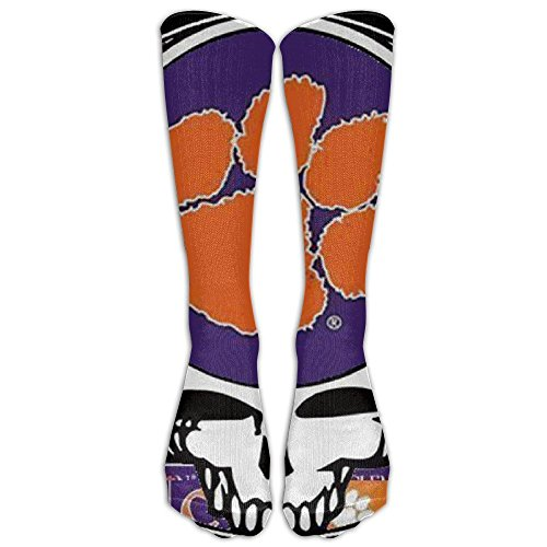 HEI222 Costume Cosply Socks Halloween Funny Unisex Grateful Dead Clemson Tigers Logo Crazy Funny Cute Novelty Crew Socks WhiteOne (Grateful Dead Halloween)