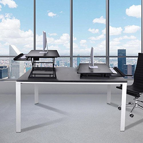 Koval Inc. Height Adjustable Electric Motorized Computer Sit-to-Stand Desk (Black) by KOVAL INC. (Image #6)