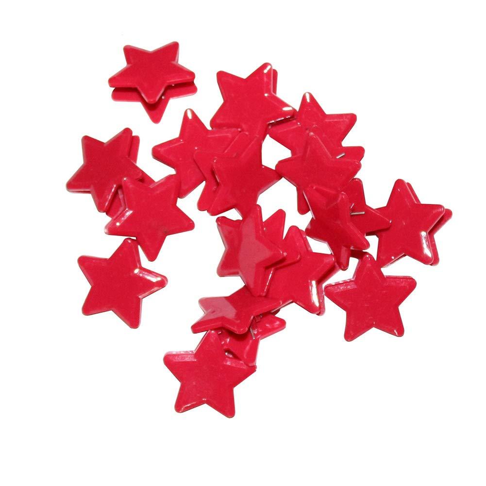 Mike Home Five-pointed Star Clip Creative Stationery Plastic Clip Small Clip Mini Plastic Utility Paper Clip 40 Pcs