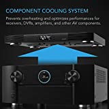"""AC Infinity AIRCOM T10, Quiet Cooling Blower Fan System 17"""" Front-Exhaust, for Receivers, Amps, DVR, AV Cabinet Components"""