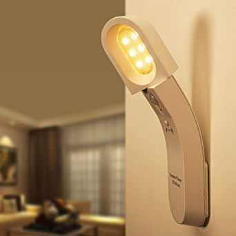 Neporal Motion-Sensor-Night-Light-Rechargeable No Plug LED Indoor Motion Sensor Light 1800mAh Night Light with Dusk to Dawn Photocell Sensor for Cupborad Kitchen Stairway Bedroom Wardrobe