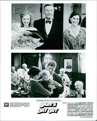 Vintage photo of Adam and Jacob Worton, Cynthia Nixon, John Neville, Lara Flynn Boyle and Matthew Glave star in Baby39;s Day Out.