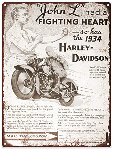 Yohoba 1934 Harley Davidson Fighting Heart Twin 74 - Cartel ...