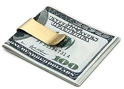 DEEZOMO Retro Vintage Brass Money Clip Wallet - Stainless Steel Slim Money Clip - Stainless Steel