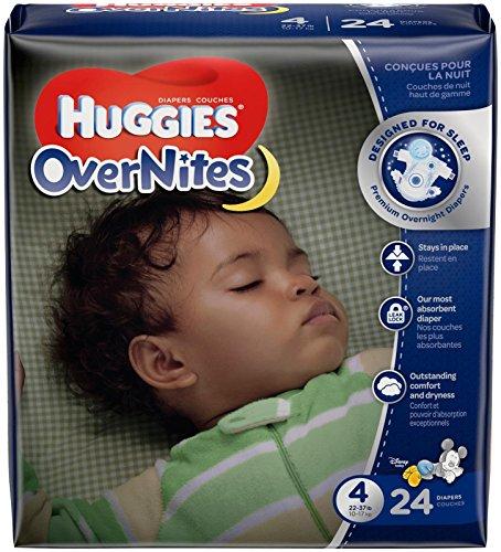 Huggies Overnites Diapers - Size 4 - 24 ct