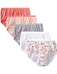 Women's 5 Pack Cotton Brief Panty (Assortments May Vary)