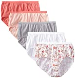 Just My Size Women's 5 Pack Cotton Brief Panty (Assortments May Vary)