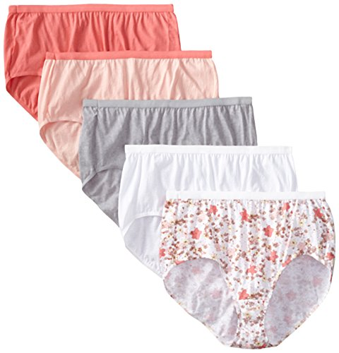 Just My Size Women's 5 Pack Cotton Brief Color Panty, Assorted, 14 - Just My Size Cotton Panties