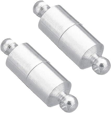 15 mm Perlin M269-20 Cierres de Rosca Cierre de Joyas Cierre de Cadena Color Plateado Cierre de Metal