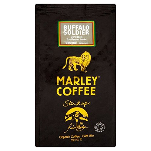 Marley Coffee Organic Dark Roast Ground Coffee - Buffalo Soldier - 227g