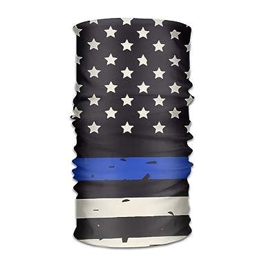 LingLake Unisex Retro The Blue Thin Line Flag Headwear Sport Magic ...