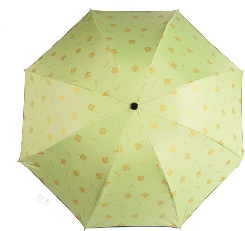 JUNDY Paraguas Compacto y Resistente al Viento, Paraguas Plegable, Conveniente para Viajes Sombrilla de plástico Negro Parasol Protector Solar color5 90cm: Amazon.es: Hogar