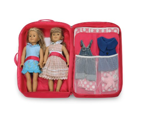 7f388f5f53b8 Amazon.com  Badger Basket Double Doll Travel Case with Bunk Bed (fits  American Girl dolls)