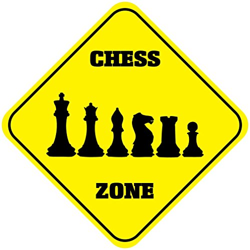 (Aluminum Cross Sign Chess Zone Crossing Style B Metal Wall Decor - 12