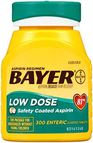 Bayer Aspirin Regimen, Low Dose (81 mg), Enteric Coated, 300 Count