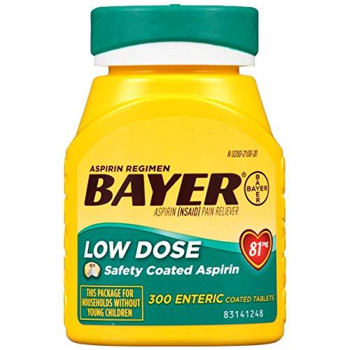 Bayer Aspirin Regimen, Low Dose (81 mg), Enteric Coated, 300 count